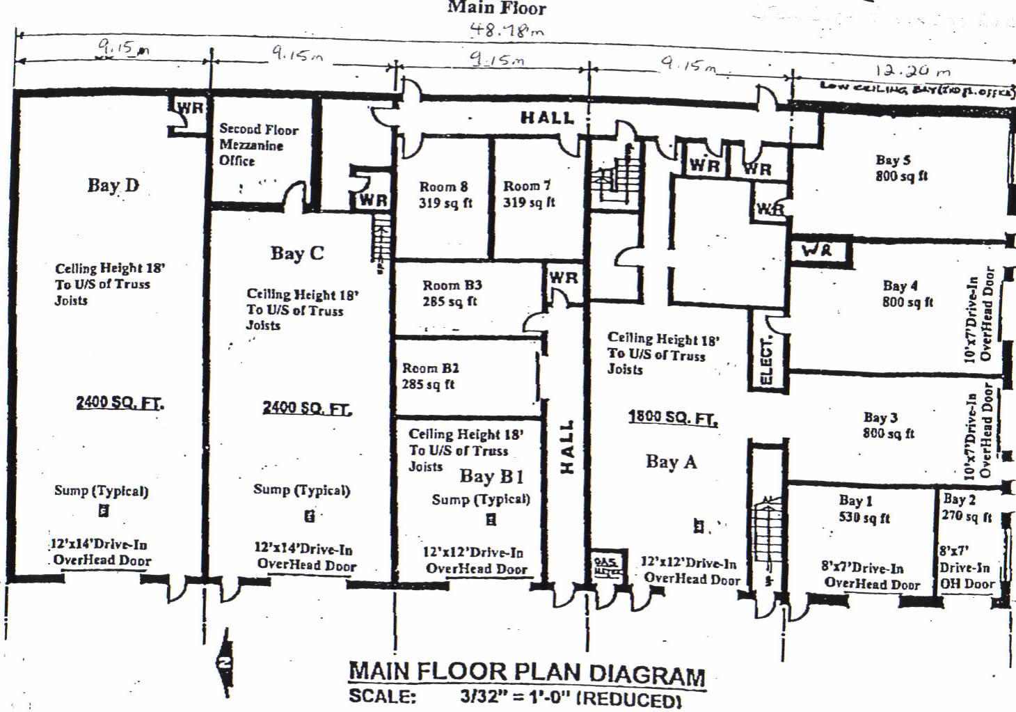 Commercial Warehouse Industrial Bay Floorplan